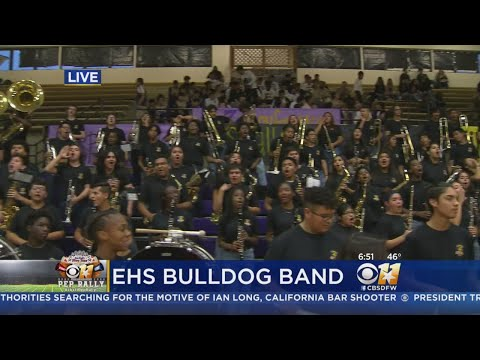 CBS 11 Pep Rally: Everman High School Band