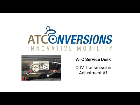 CUV Transmission Adjustment Video #1
