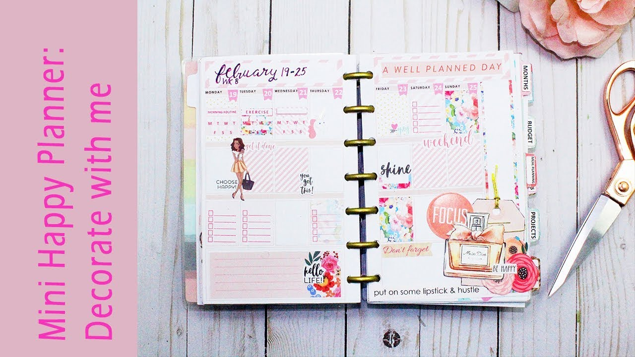 Plan With Me | Mini Happy Planner |FREE Planner Insert