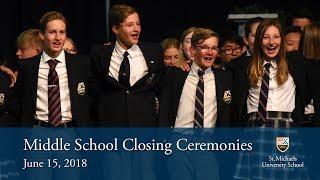Middle School Closing Ceremonies 2018