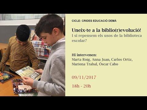 Uneix-te a la biblio(r)evolució! I si repensem els usos de la biblioteca escolar?