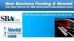 Funding New Business & Newtek Provide SBA Loans