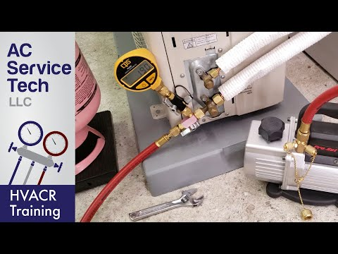 Steps To Vacuum And Charge Refrigerant On A Mini Split Unit!