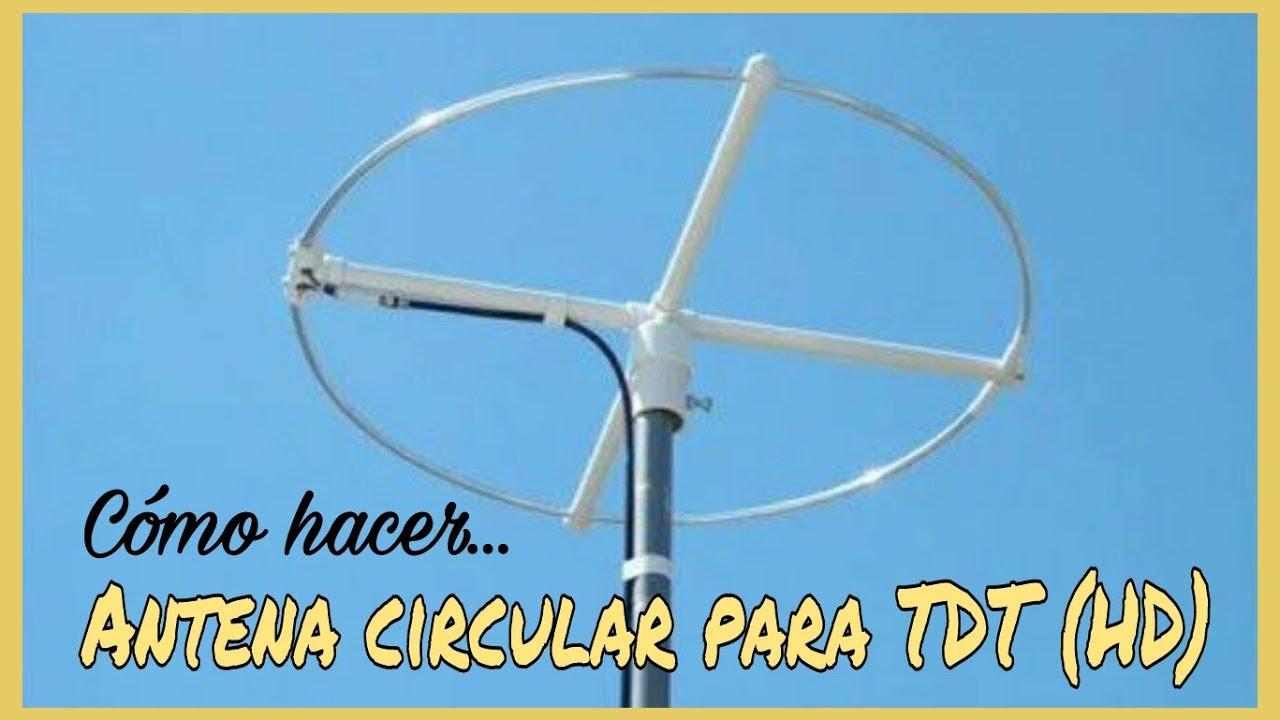C mo hacer una antena casera circular para ver la tv tdt hd youtube - Antena tdt interior casera ...