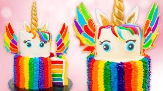 How to Make a Rainbow Unicorn Cake w/ Isomalt Wings Recipe