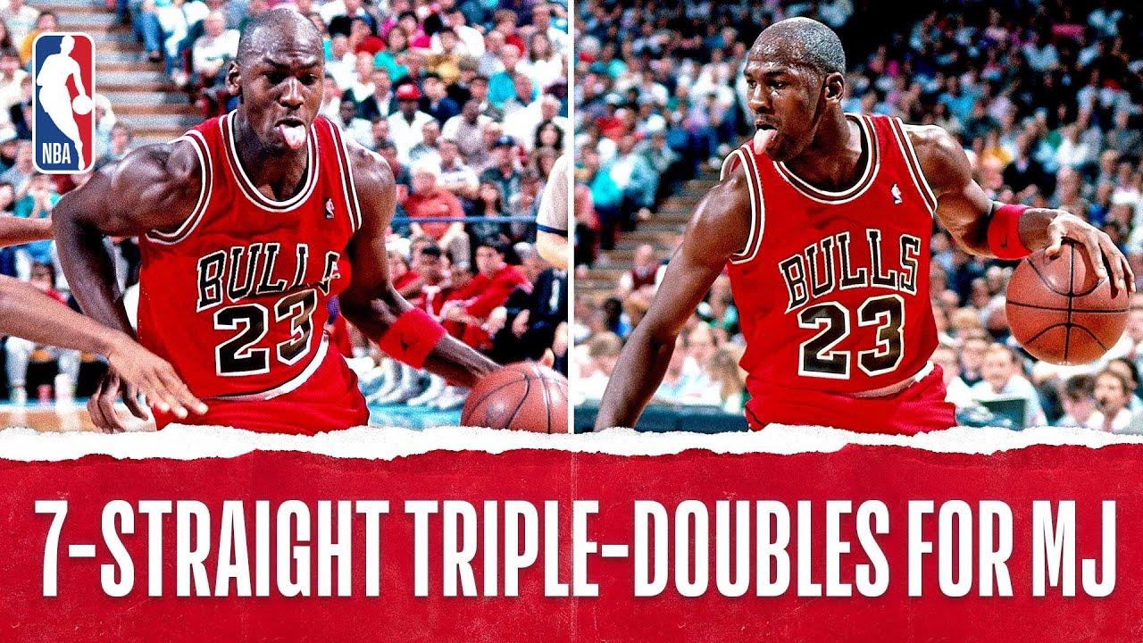 sports shoes 05a22 cd608 Michael Jordan s Seven Straight Triple-Doubles