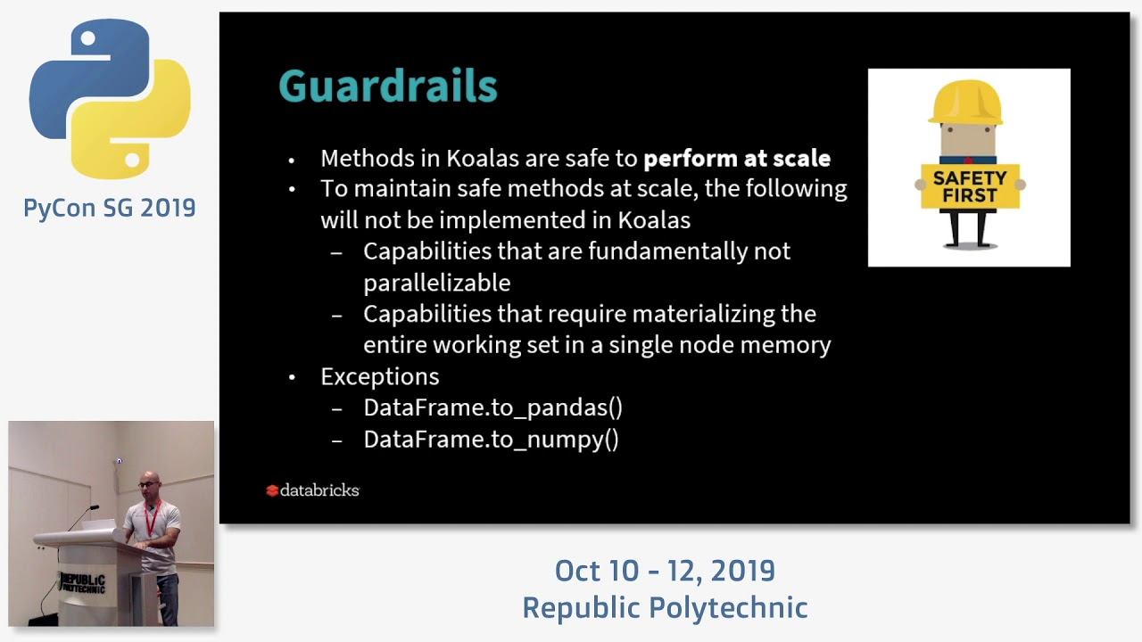 Image from Koalas: Pandas API on Apache Spark - PyCon SG 2019