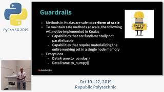 Koalas: Pandas API on Apache Spark - PyCon SG 2019