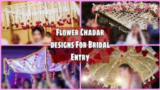Flower chadar designs for Bridal Entry|Flower Chadar Designs|Latest Designs Of Flower Chadar 2020