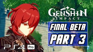 Genshin Impact - Final Closed Beta Gameplay PART 3 (PS4 PRO)