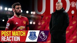 Solskjaer & Fernandes react to Everton draw   Manchester United 3-3 Everton   Premier League