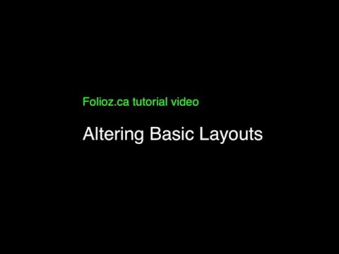 Tutorial Four: Altering your basic layout