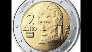 Обзор монеты 2 EURO Австрии 2012 года выпуска !!!(Монета Австрии 2 Евро регулярного чекана 2012 года выпуска!!!, 2016-05-22T19:03:44.000Z)