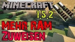 Minecraft 1.5.2 Mehr RAM zuweisen Möglichkeit 1 [German]
