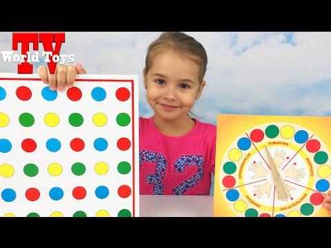 Челлендж Играем с Ариной в игру Твистер Challenge the game Twister