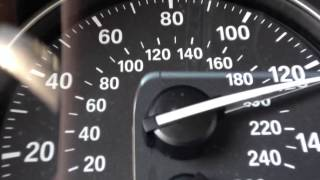 Single turbo BMW 335i N54 speedometer