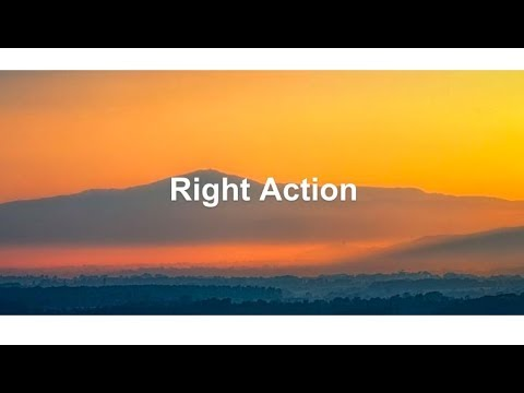 Right Action: The Buddha's Noble Eightfold Path