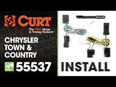 hqdefault trailer wiring install curt 55537 on 2006 chrysler town & country 2013 town and country trailer wiring harness at crackthecode.co