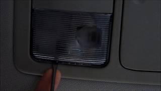 Замена ламп общего и индивидуального освещения салона ниссан тиида
