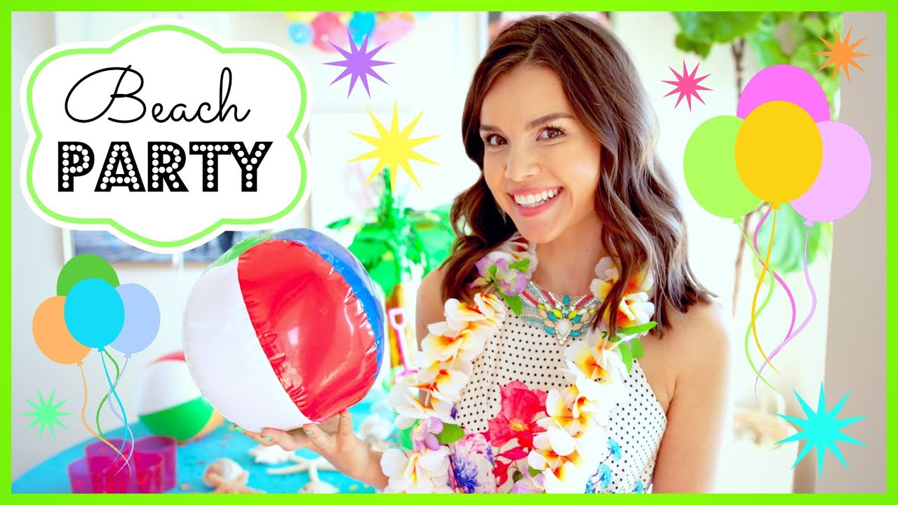 Beach Party Makeup Yummy Treats + DIY Decor! - YouTube