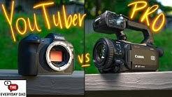 PRO Camera VS YouTuber Camera | Canon XA50 VS EOS R!
