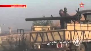 Бронетехника и артиллерия армии Сирии выжигают боевиков кадры с передовой