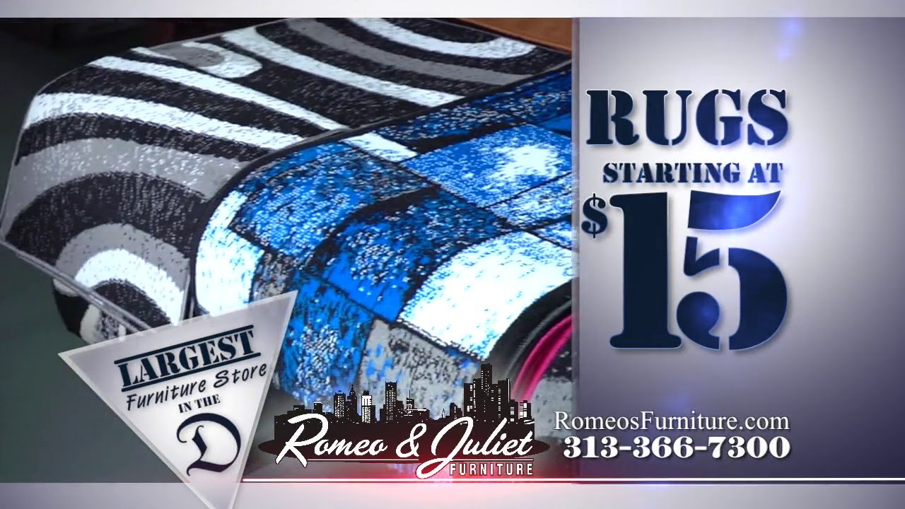 Rug Sale At Romeo And Juliet Furniture In Detroit Youtube