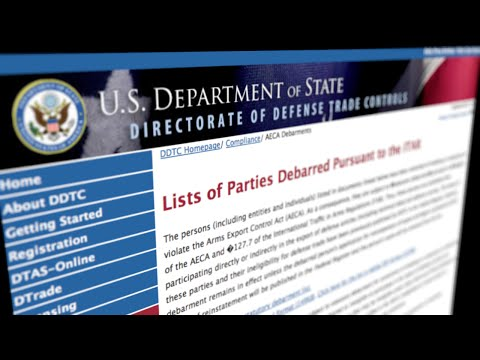 Learn About the Export Screening App: The ITAR Debarred List