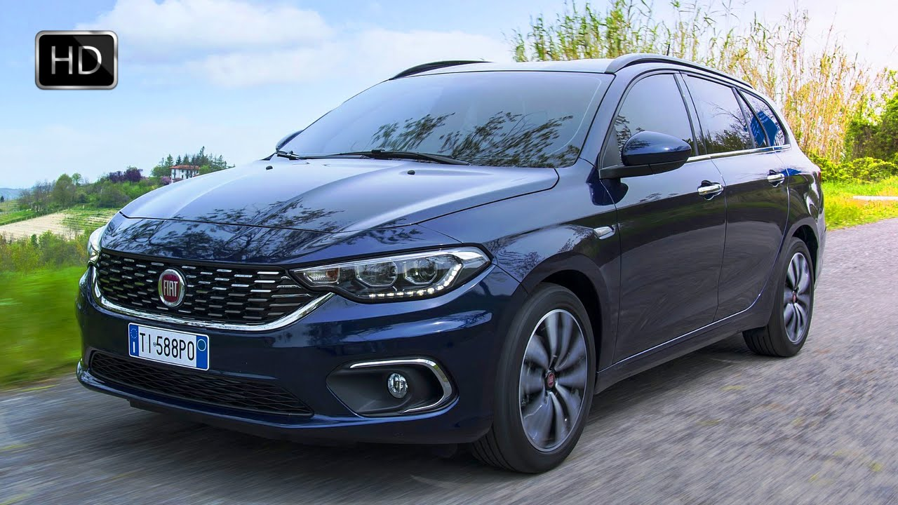 video 2016 fiat tipo station wagon 1 4 multiair turbo 118 hp exterior design road drive hd. Black Bedroom Furniture Sets. Home Design Ideas