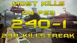 240 Kills - 1 Death - 3 WORLD RECORDS: Most Kills PS3, Highest Killstreak/KDR