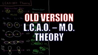 Quantum Chemistry 10.8 - LCAO-MO Theory (Old Version)