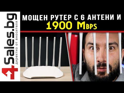 Домашен безжичен WiFi рутер с шест антени FAST FAC1901R - WF26 4