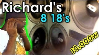 "8 18"" Subs on 10,000 Watts 