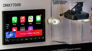 Kenwood DMX7704S Double DIN with DRV-N520 Dash Cam Link - CES 2017