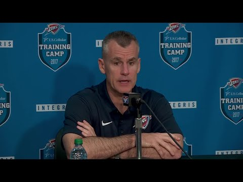 Coach Billy Donovan at Oklahoma City Thunder at media day
