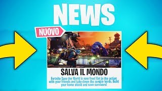 FINALLY SAVE the FREE WORLD! Date announced! SKIN ASSURDE IN ARRIVO! - Fortnite News ITA