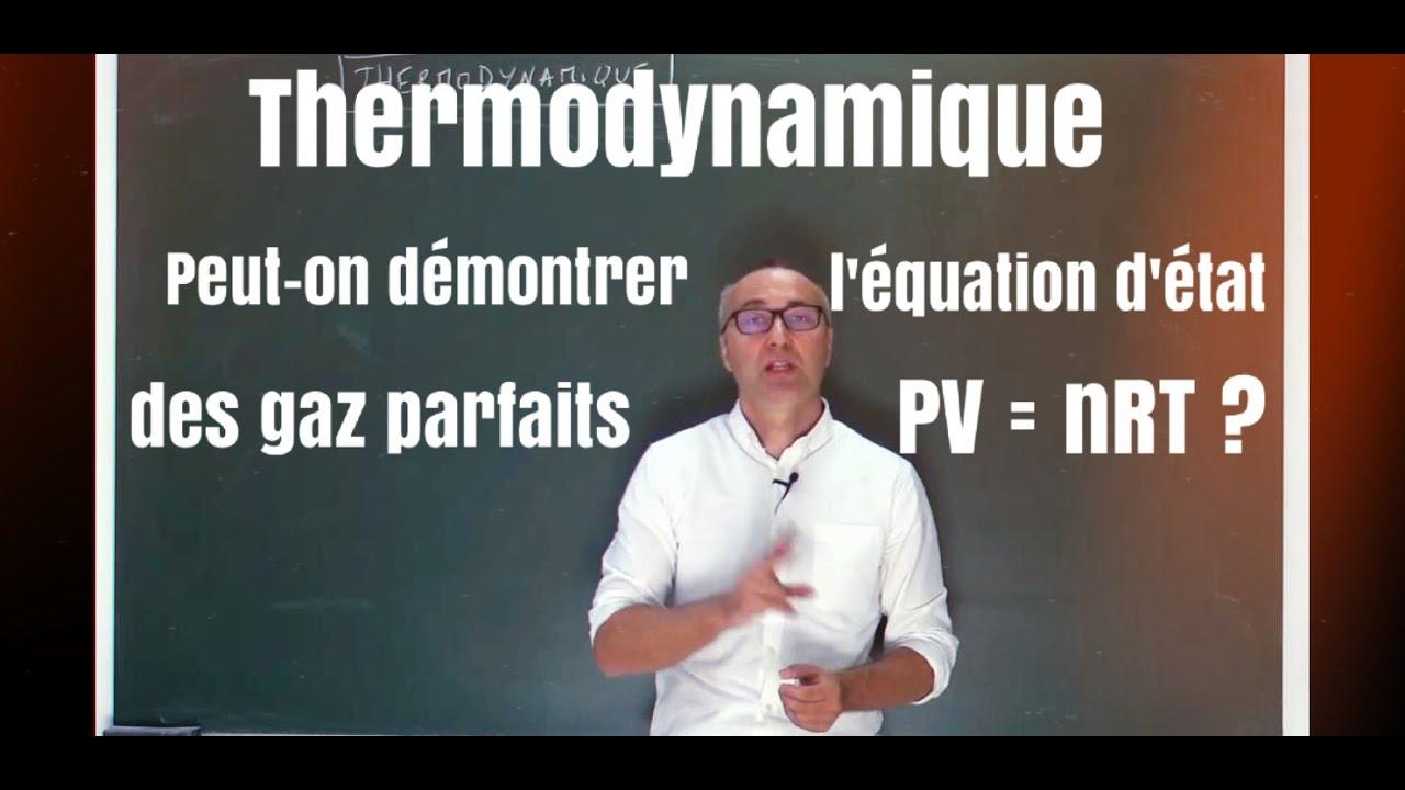 Thermodynamique : pression cinétique du gaz parfait - YouTube