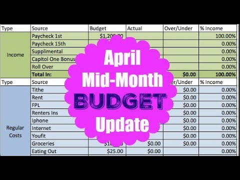 APRIL  2018 MID- MONTH ZERO BASED BUDGET | Dumping Debt Fridays | Dave Ramsey Inspired
