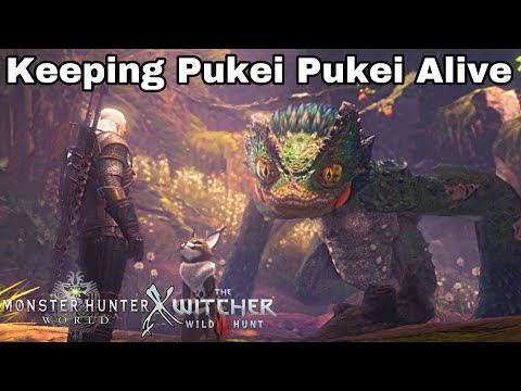 MHW X Witcher 3 All Rewards And True Ending! Keeping Pukei Pukei Alive | Monster Hunter World