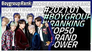 2021년1월 보이그룹 랭킹 top50 공개(남자아이돌 )