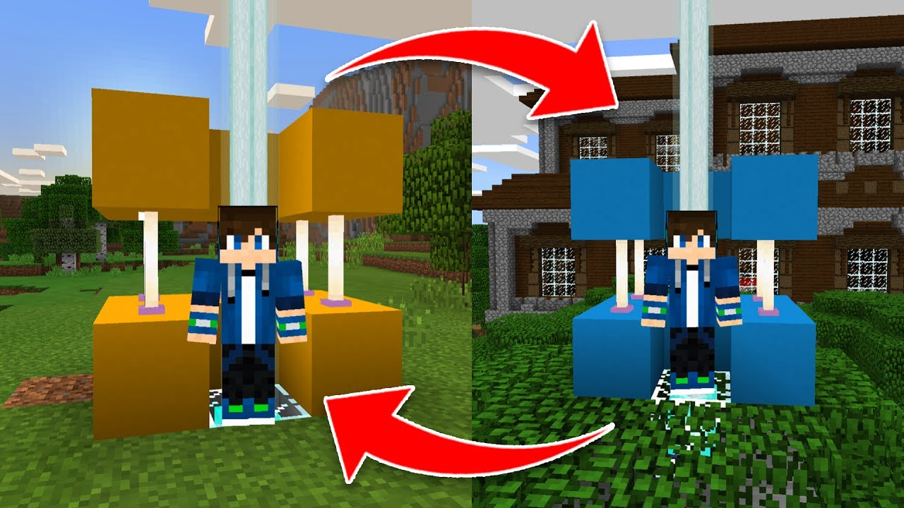 How To Build A TELEPORT MACHINE In Minecraft Pocket Edition PS - Minecraft hauser pocket edition