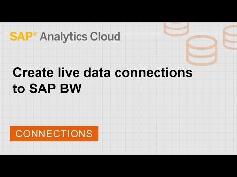 Create live data connections to SAP BW | SAP | SAP
