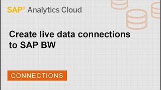 إنشاء live اتصالات البيانات SAP BW: SAP تحليلات سحابة (2018.14.1)