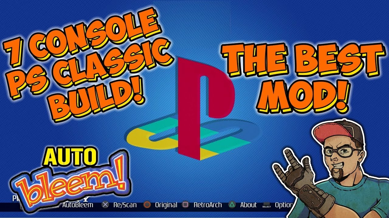 PlayStation Classic 7 Consoles In 1 AutoBleem Mod Build 108 PSX Games!