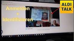 ☎️ Aldi Talk Registrierung und Identifizieren PC Browser Webcam