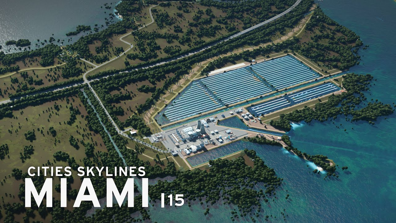 Nuclear Power Plant | Cities Skylines: Miami 15