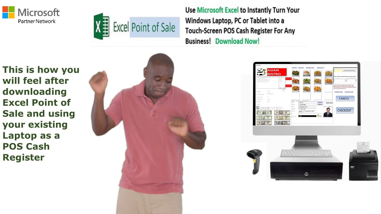 Excel Point of Sale - Use Your Laptop and Microsoft Excel As a POS Cash  Register
