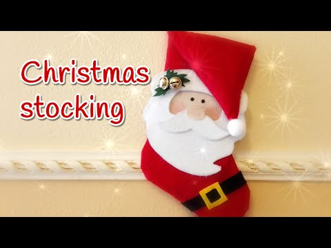 DIY Christmas Craft - No Sew Santa Christmas Stocking