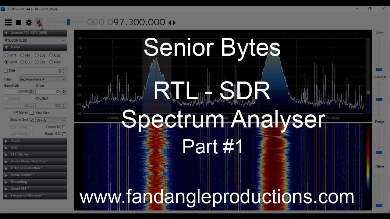 Getting Started With RTL-SDR Airspy SDR# Spectrum Analyser Part 1