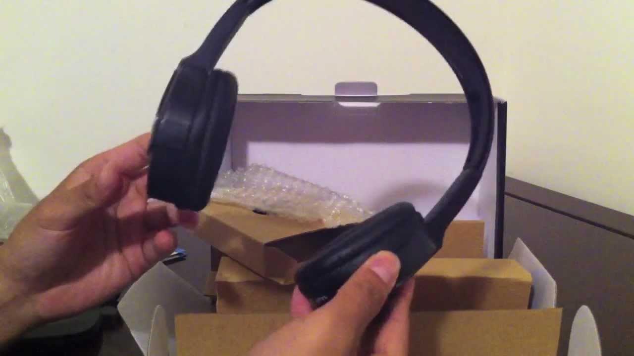 The Sharper Image Wireless Headphones Unboxing Youtube